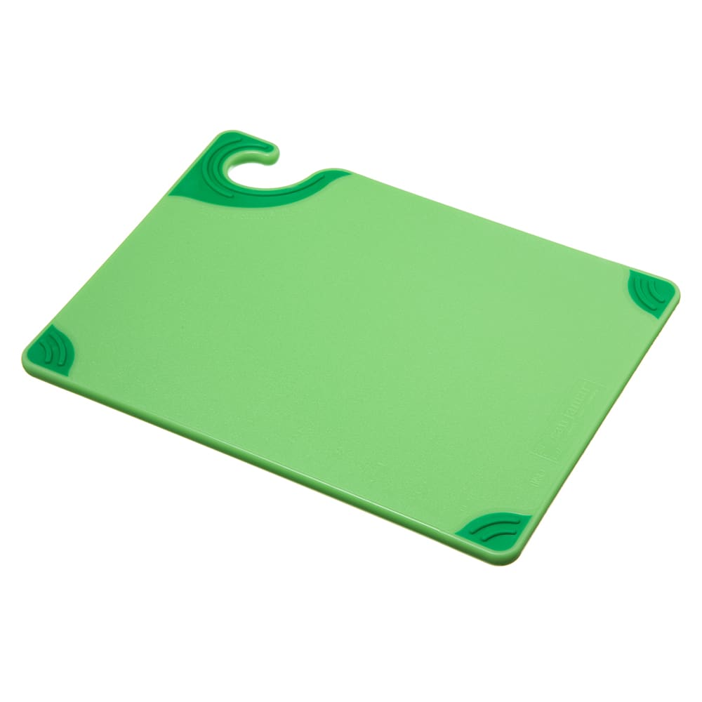 San Jamar CBG912GN Saf-T-Grip X-Pediter Cutting Board, 9 x 12 x 3/8 in, NSF, Green