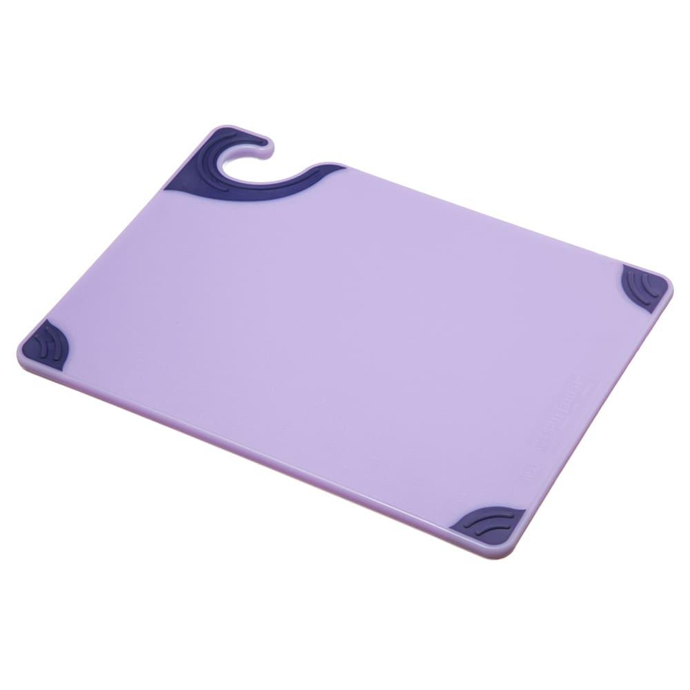 San Jamar CBG912PR Saf-T-Zone Allergen Cutting Board, 9 x 12 x 3/8 in, NSF, Purple