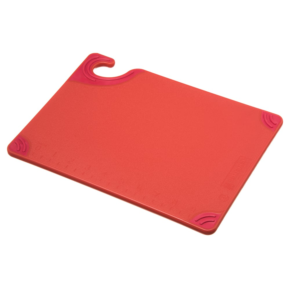 San Jamar CBG912RD Saf-T-Grip X-Pediter Cutting Board, 9 x 12 x 3/8 in, NSF, Red