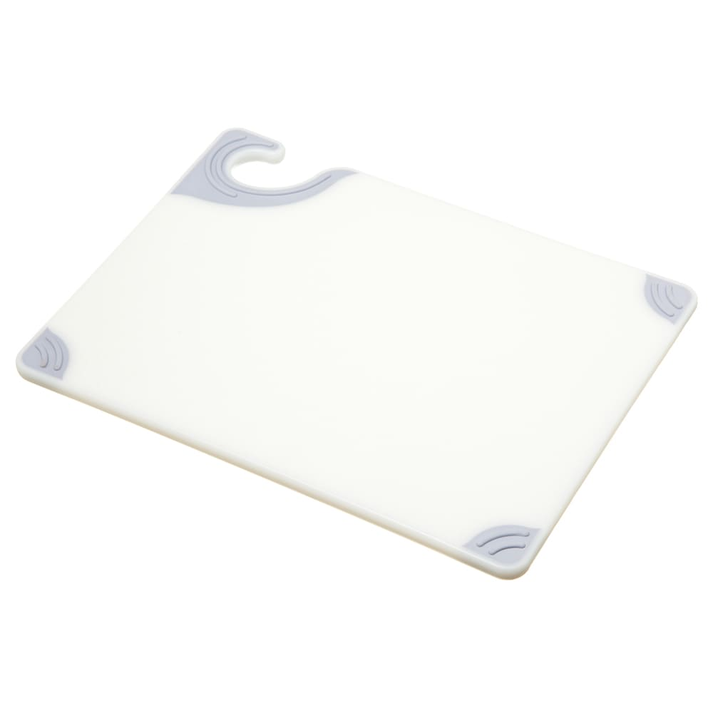 San Jamar CBG912WH Saf-T-Grip X-Pediter Cutting Board, 9 x 12 x 3/8 in, NSF, White
