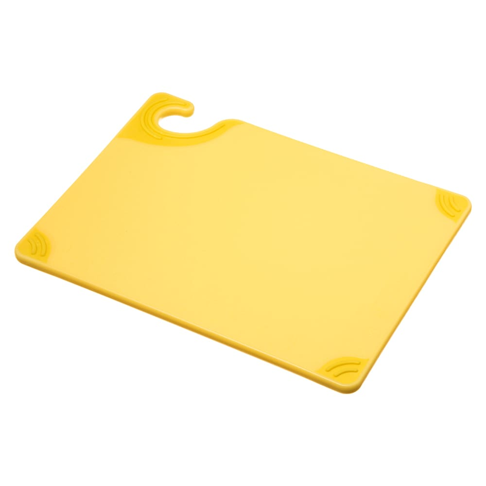 San Jamar CBG912YL Saf-T-Grip X-Pediter Cutting Board, 9 x 12 x 3/8 in, NSF, Yellow