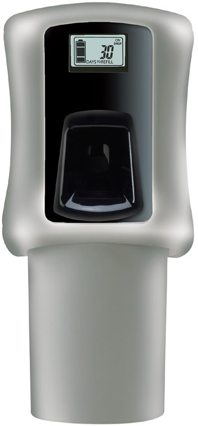 San Jamar CC110801805 Snap Compact Air Care System w/ Indicator Light, Battery Powered, LCD, Grey