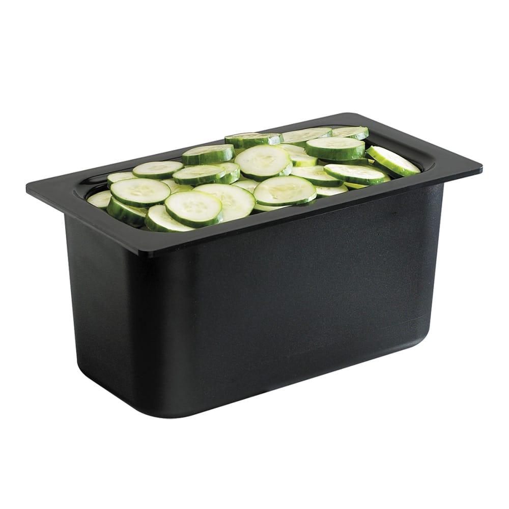 """San Jamar CI7003BK Chill-It Refrigerant Filled Food Pan - 1/3 Size, 6"""" Deep, Black"""