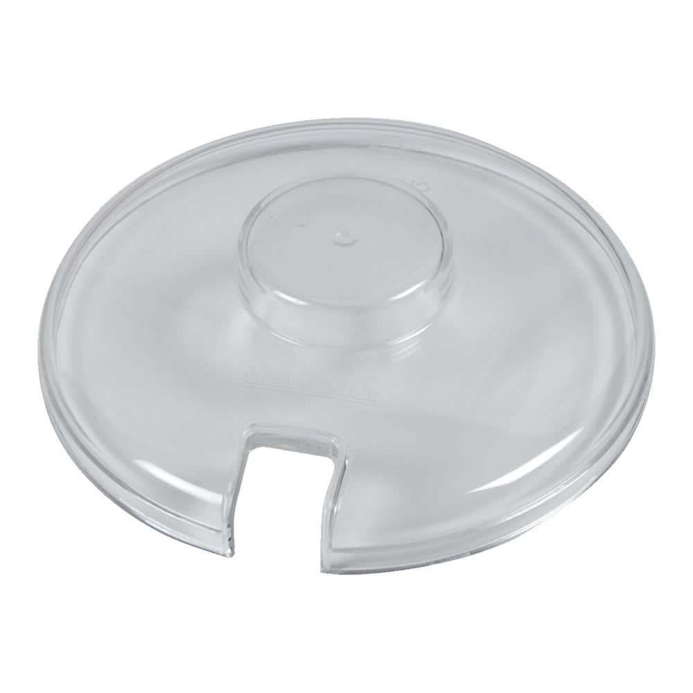 San Jamar CI7016NL Chill-It Crock Lid, fits 2 qt. Round Crock, Notched, Clear