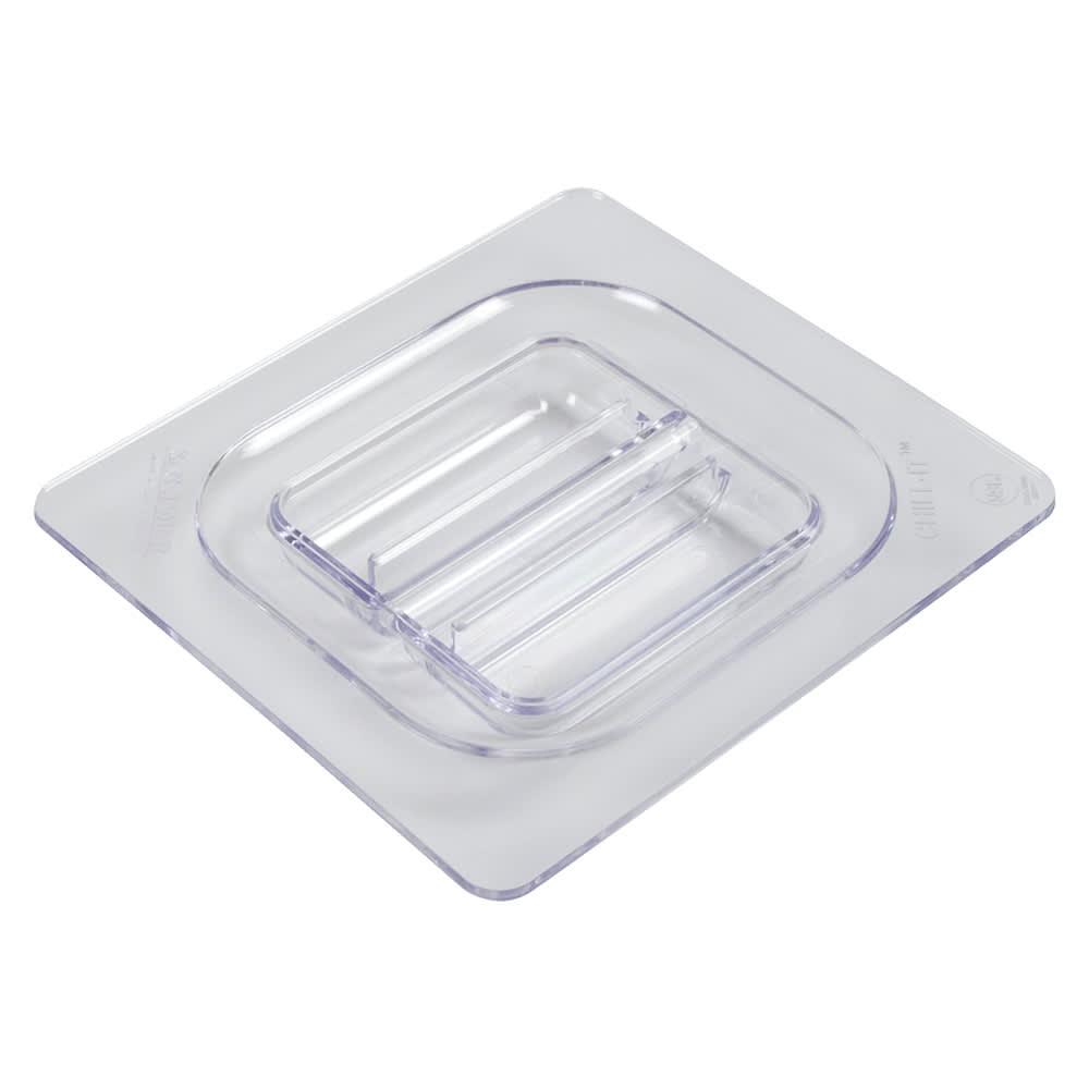 San Jamar CI7111L Chill-It Food Pan Lid - 1/6 Size, Clear