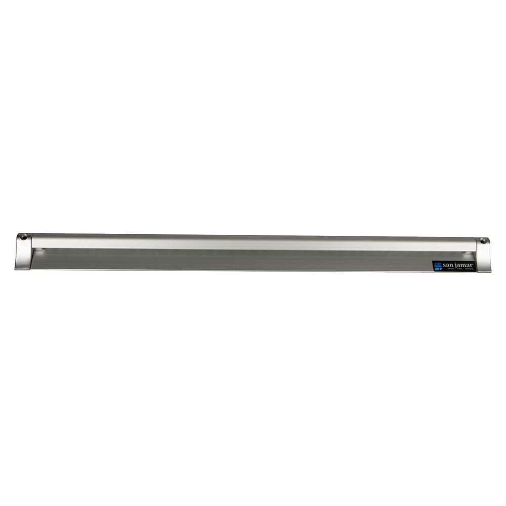 "San Jamar CK6524A Slide Check Rack, 24"" Long, Aluminum"