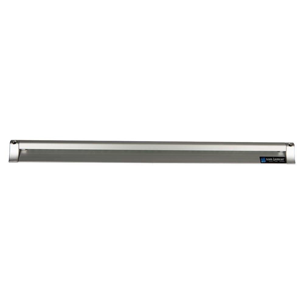 """San Jamar CK6530A Slide Check Rack, 30"""" Long, Aluminum"""