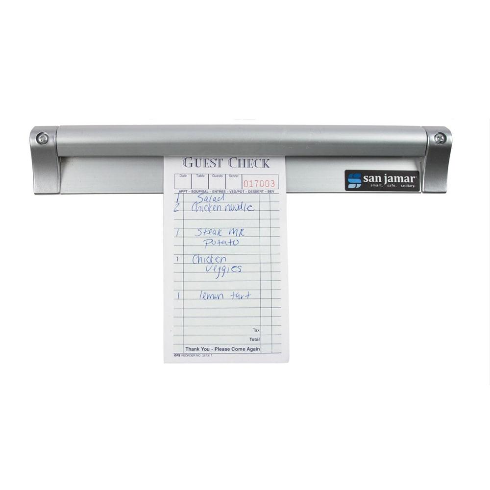 """San Jamar CK6544A Slide Check Rack, 44"""" Long, Aluminum"""