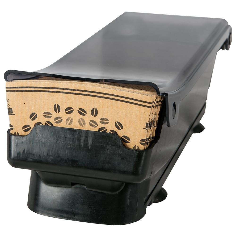 "San Jamar CSD100 Coffee Sleeve Dispenser - 5.75"" x 14.75"" x 5.25"", Black Plastic"