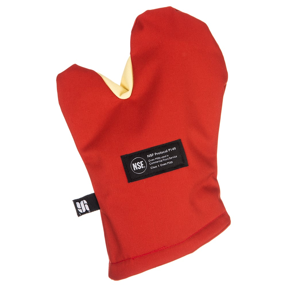 "San Jamar CTC13 13"" Cool Touch Oven Mitt w/ 500-F Heat Protection, Magnet & Loop, Kevlar"