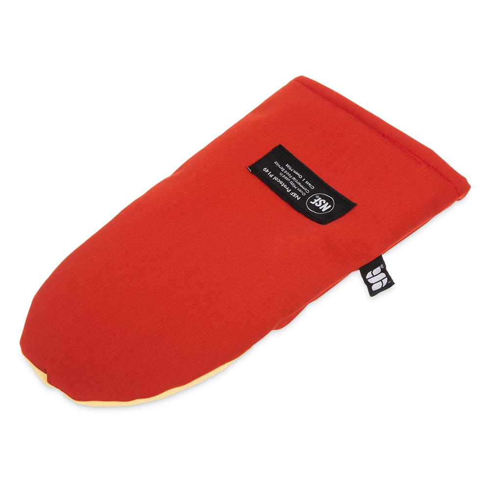 "San Jamar CTP13 13"" Cool Touch Oven Mitt w/ 500-F Heat Protection, Magnet & Loop, Kevlar"