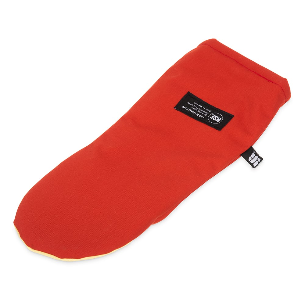 """San Jamar CTP17 17"""" Cool Touch Oven Mitt w/ 500 F Heat Protection, Magnet & Loop, Kevlar"""