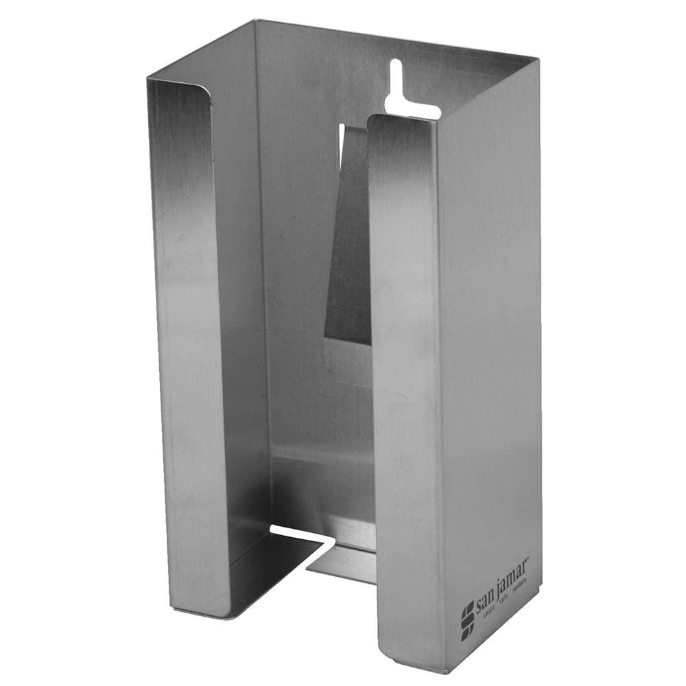 "San Jamar G0801 4"" Disposable Glove Dispenser, Stainless"