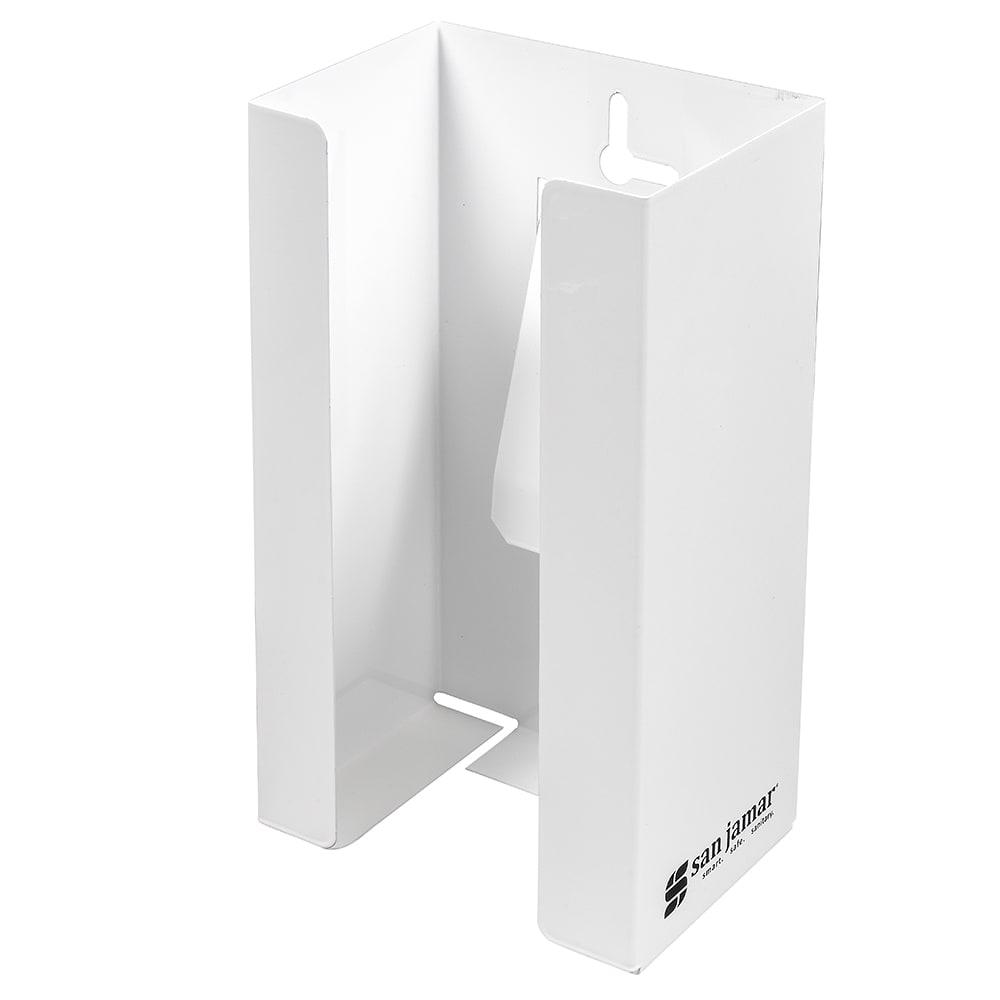 "San Jamar G0802 4"" Disposable Glove Dispenser, White"