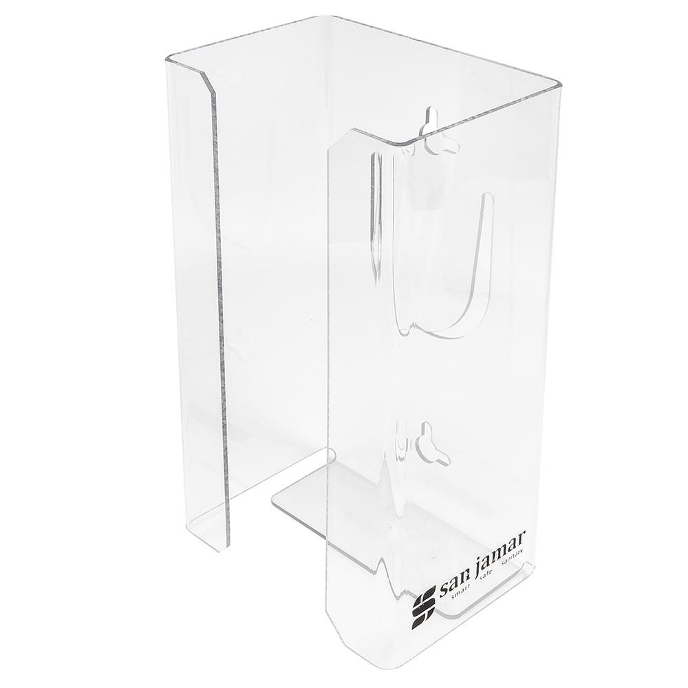 "San Jamar G0803 4"" Disposable Glove Dispenser, Clear"