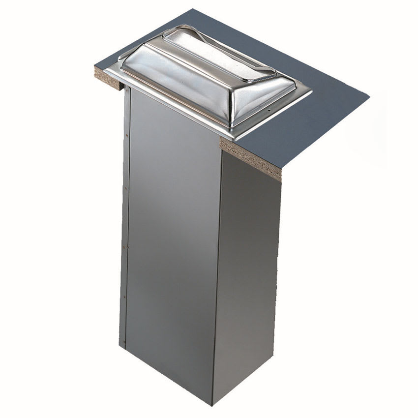 "San Jamar H2001SC Built-In Napkin Dispenser w/ 750 Napkin Capacity - 7"" x 5.5"" x 19.63, Satin Chrome"