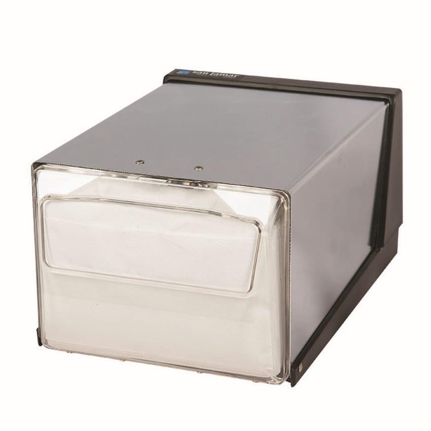 San Jamar H3001CLXC Countertop 300 Fullfold Napkin Dispenser, Clear & Chrome