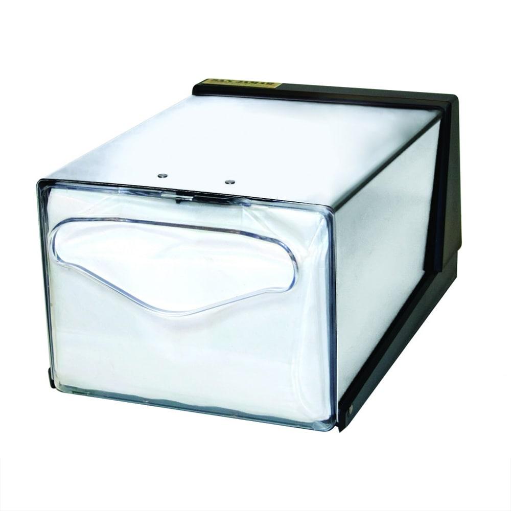 San Jamar H3005CLXC Countertop 300 Fullfold Napkin Dispenser, Clear & Steel