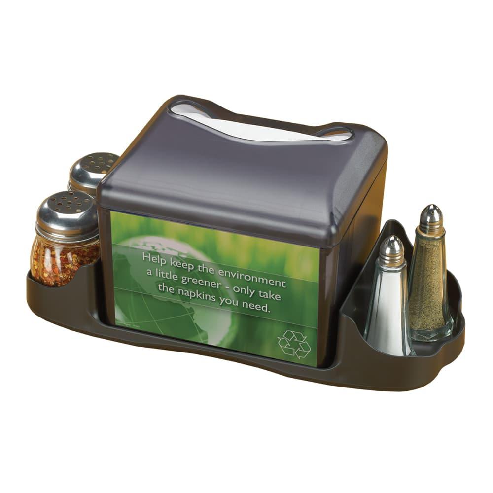 San Jamar H4005CTBK Venue Tabletop 200 Fullfold Napkin Dispenser & Caddy - Black Pearl