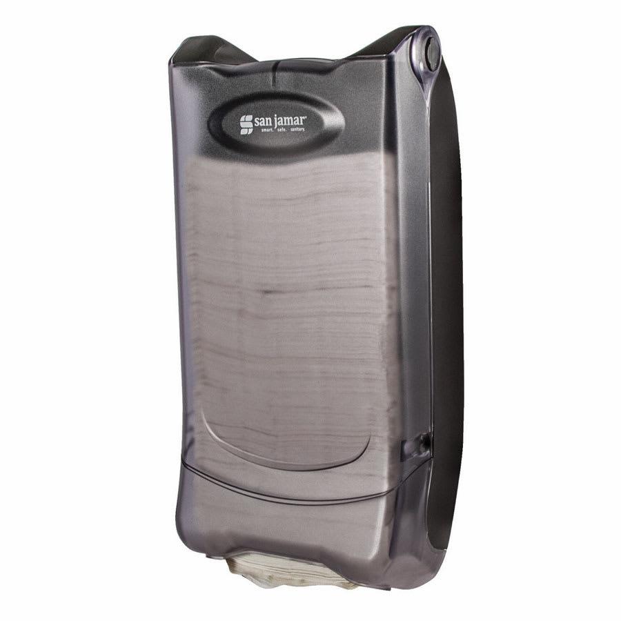 San Jamar H5000PCL Wall-mount 500 Minifold Napkin Dispenser, Clear