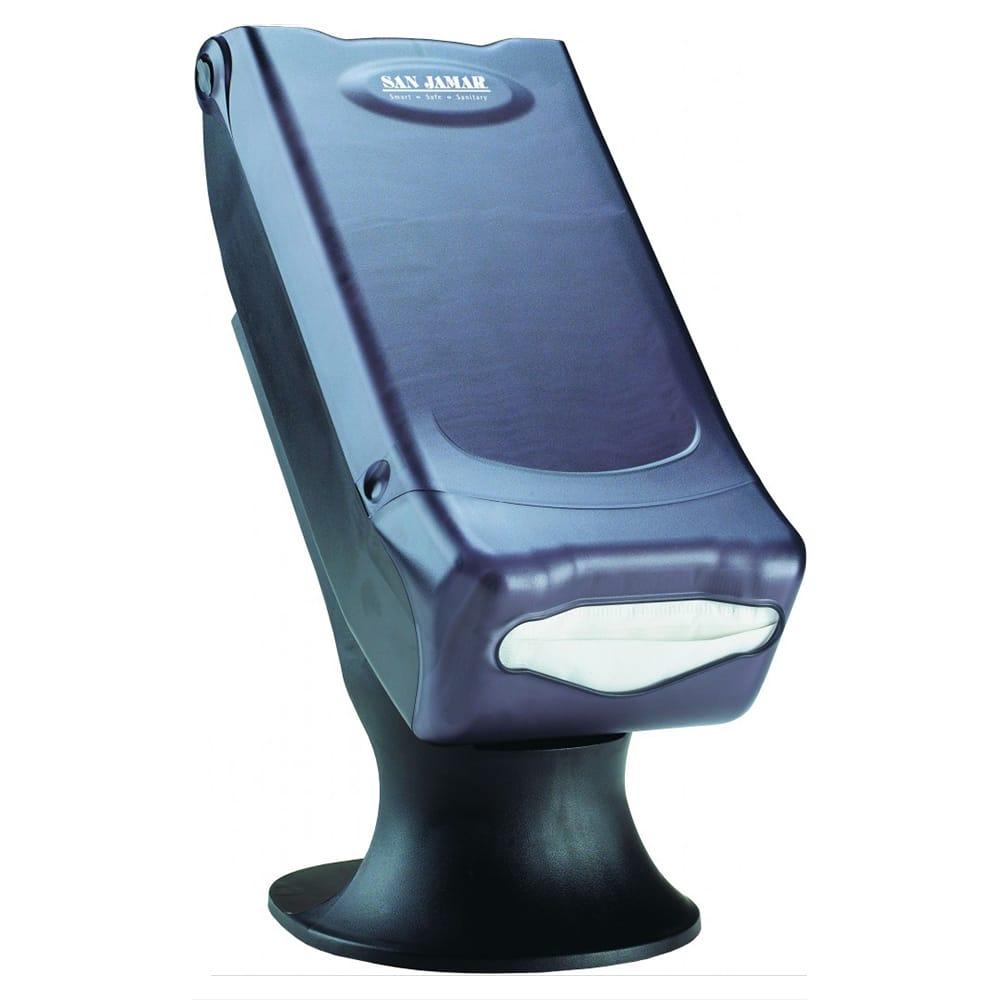 San Jamar H5000STBK Countertop 450 Minifold Napkin Dispenser w/ Stand, Black Pearl