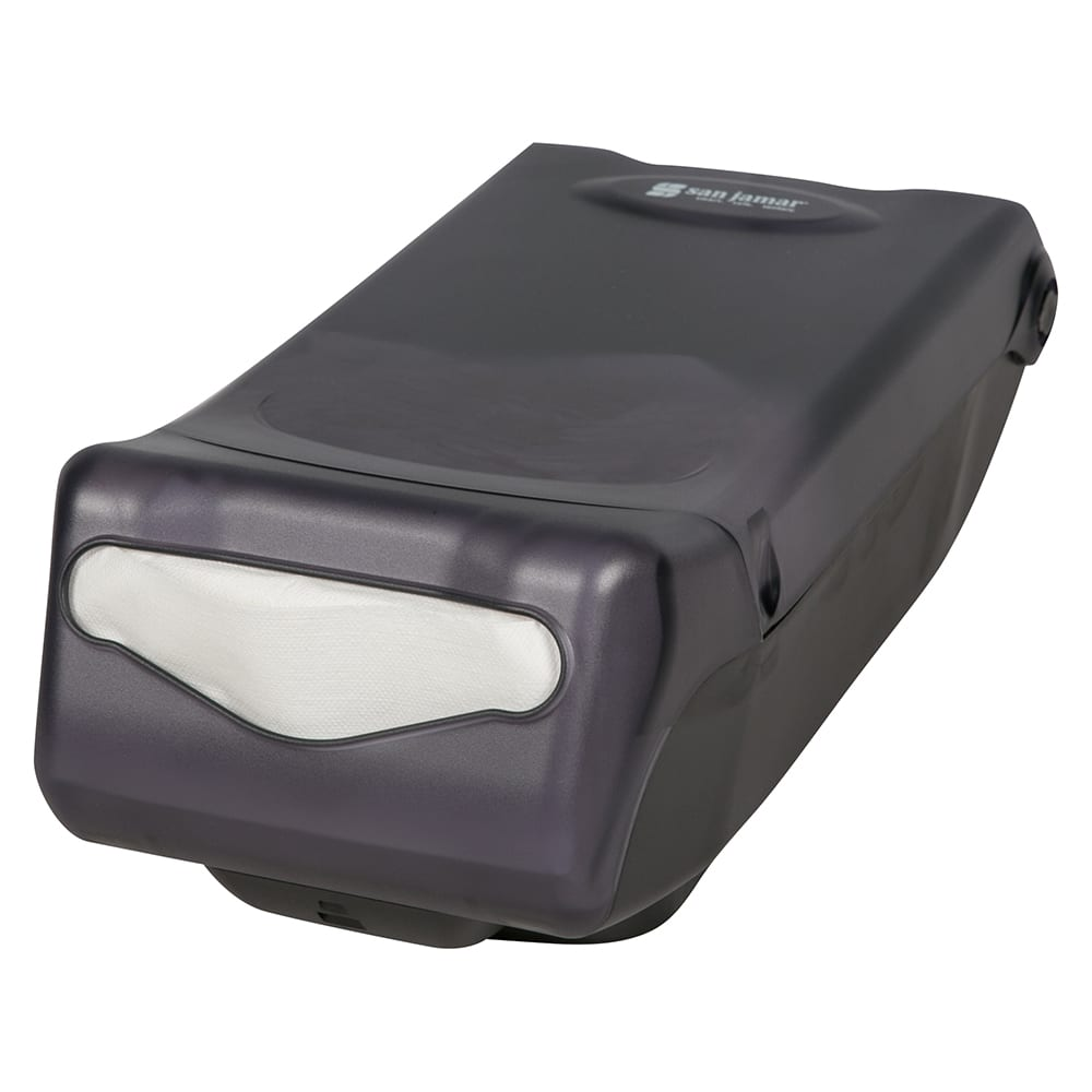 San Jamar H5000TBK Countertop 450 Minifold Napkin Dispenser, Black Pearl