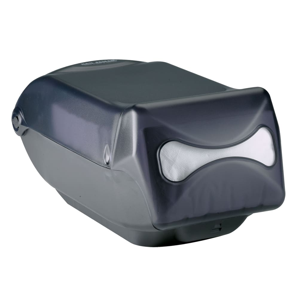 San Jamar H5003TBK Countertop 550 Interfold Napkin Dispenser, Black Pearl