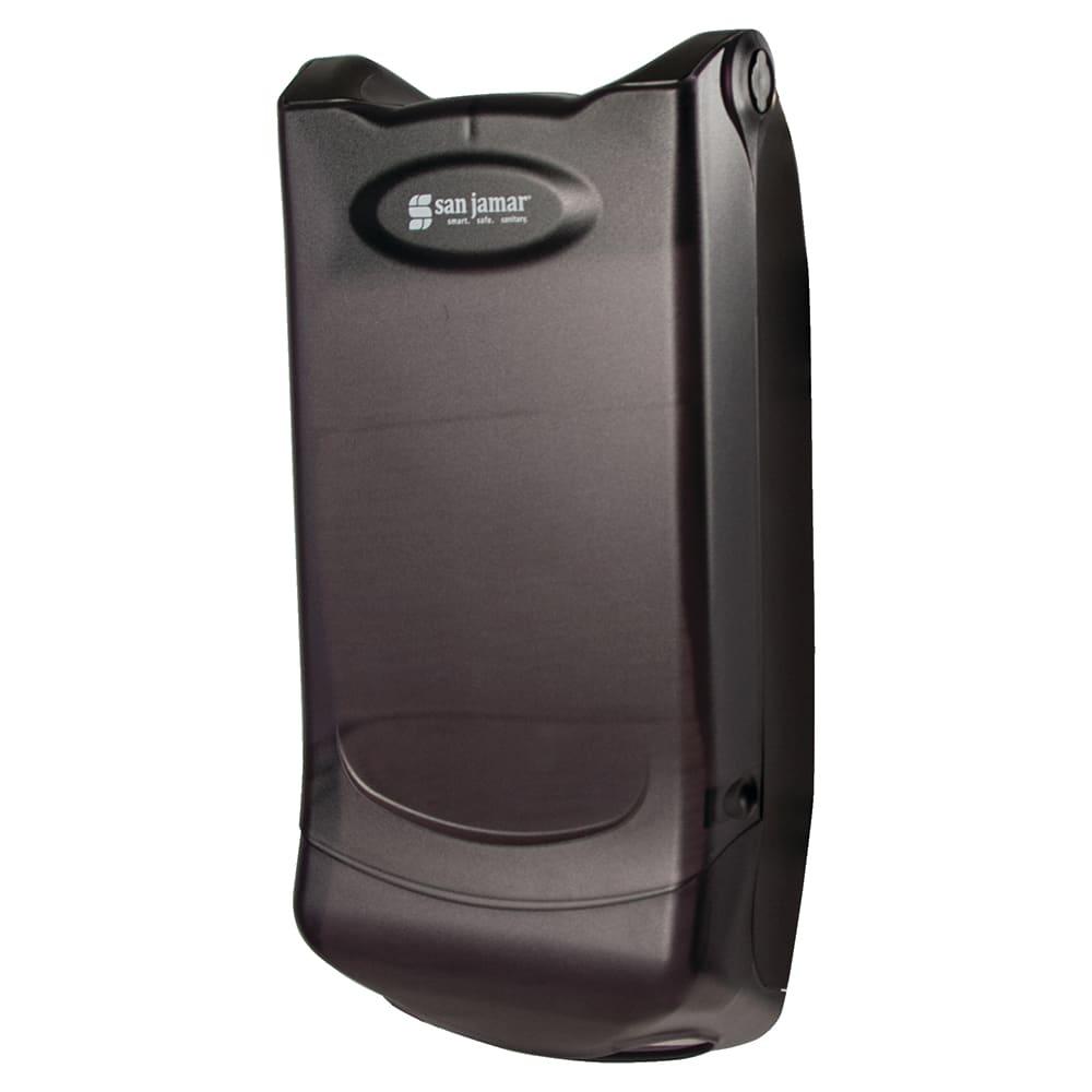 San Jamar H5004PTBK Wall Mount 550 Mini-Interfold Napkin Dispenser, Black Pearl