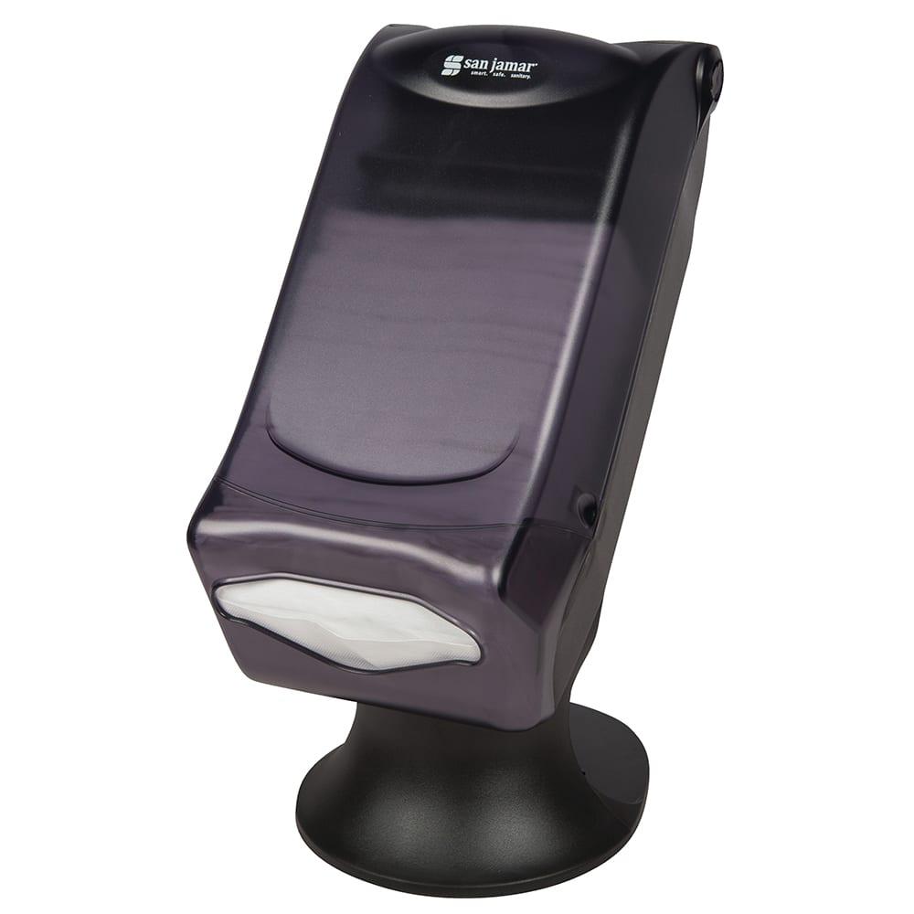 San Jamar H5005STBK Countertop 450 Fullfold Napkin Dispenser - Freestanding, Black Pearl