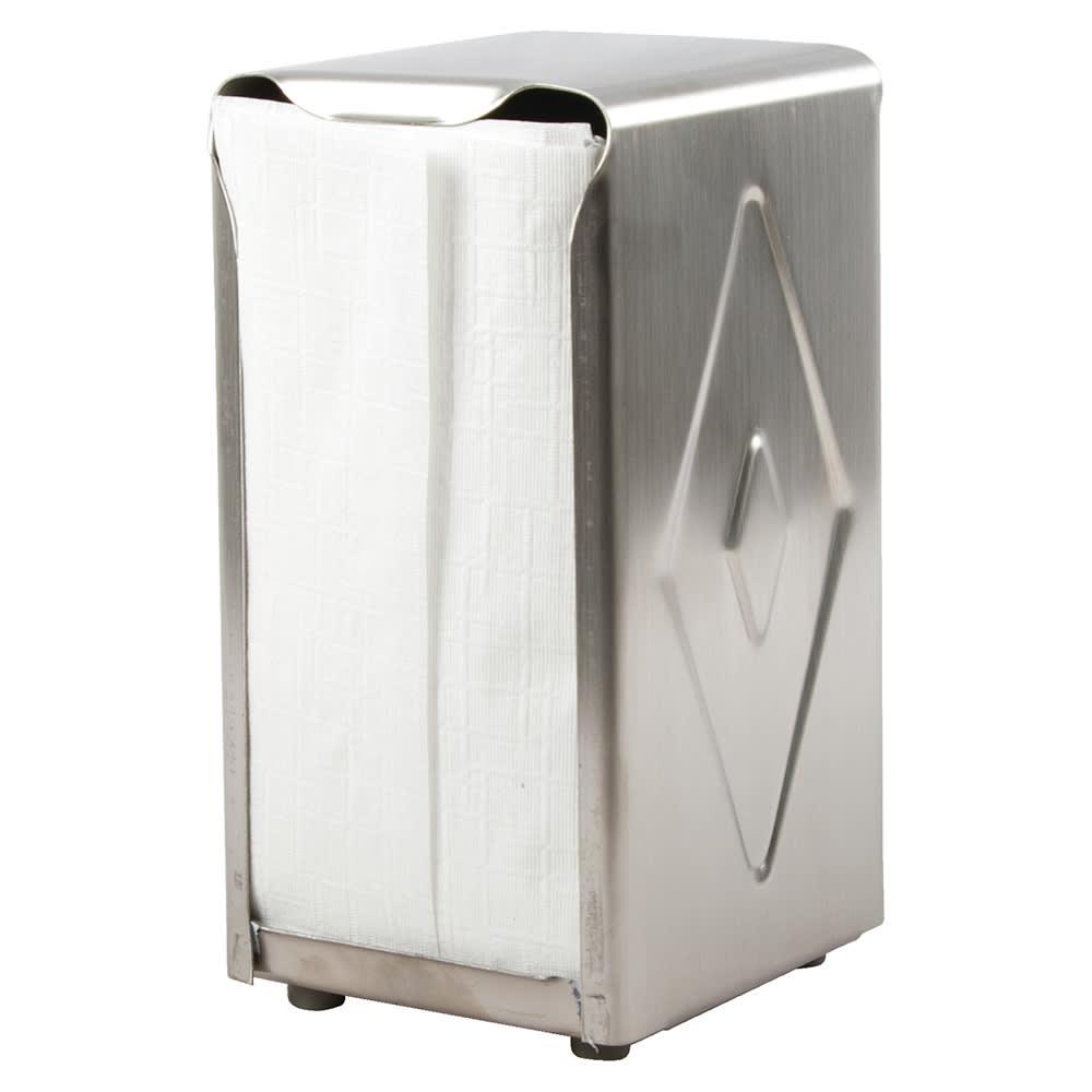 San Jamar H900X Tabletop 150 Tallfold Napkin Dispenser - Two-Sided, Stainless