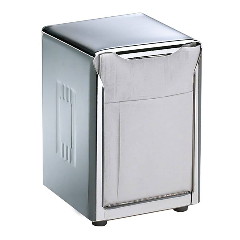 San Jamar H985X Tabletop 150 Lowfold Napkin Dispenser - Two-Sided, Stainless