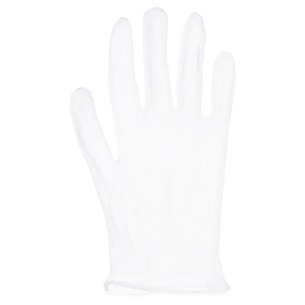 San Jamar IG100 Waiter's Glove, Cotton, One Size, White