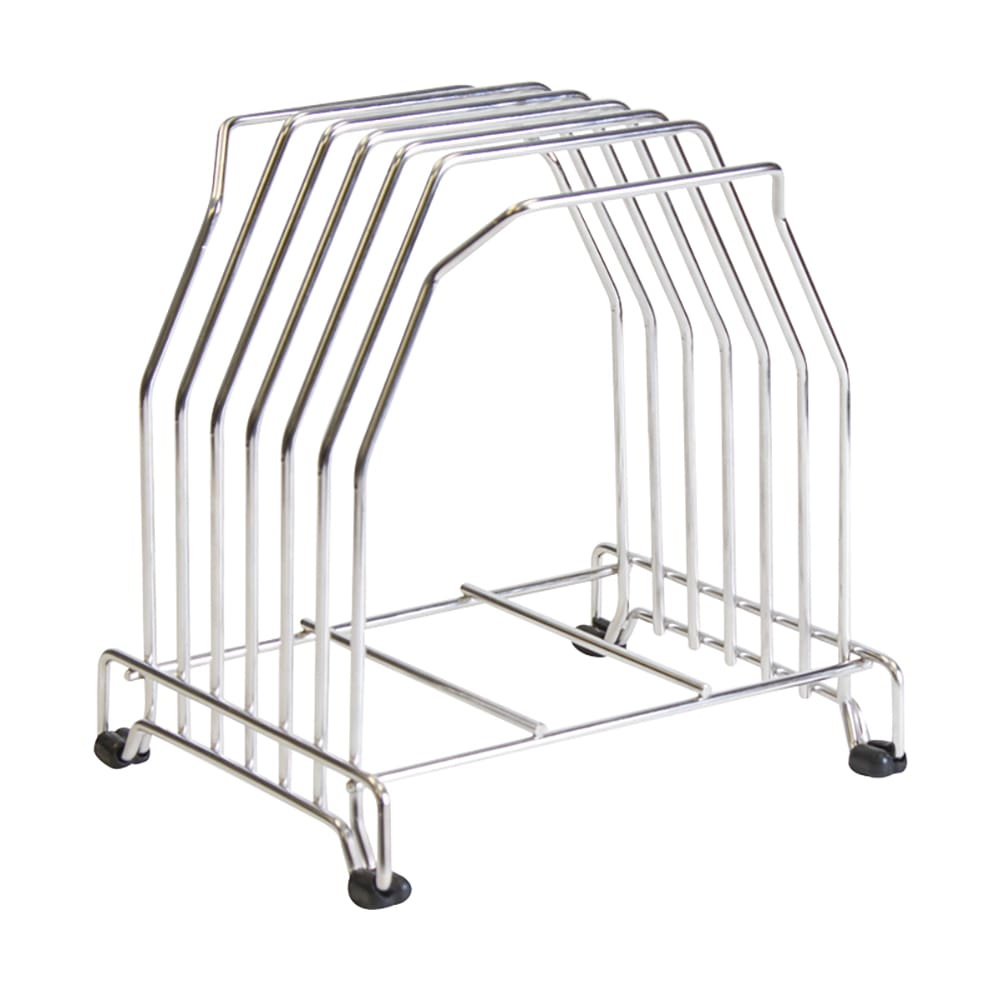 San Jamar KLRST Cutting Board Storage Stand, Fits (6) Boards, Heavy Duty  Stainless