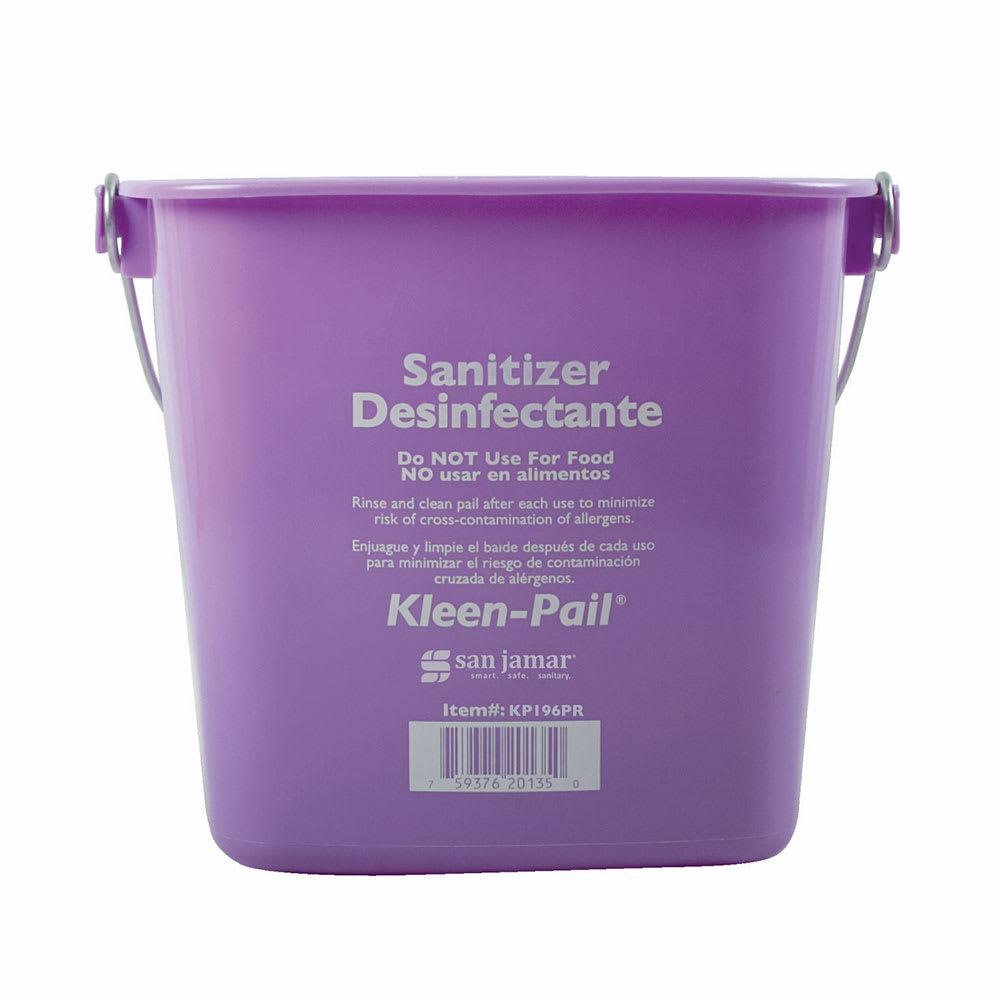 San Jamar KP196PR 6-qt Kleen-Pail Sanitizing Pail - Plastic, Purple