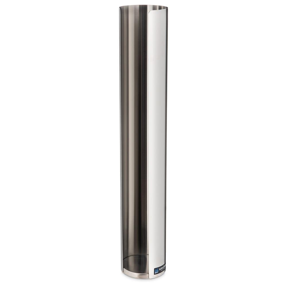 San Jamar L3400 Lid Dispenser, 1 Sleeve For 12 24 oz Lids, Stainless