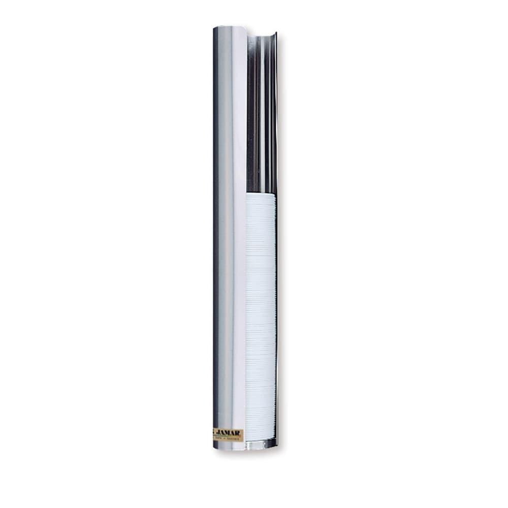 San Jamar L3500 Lid Dispenser, 1-Sleeve For 32-46 oz Lids, Stainless