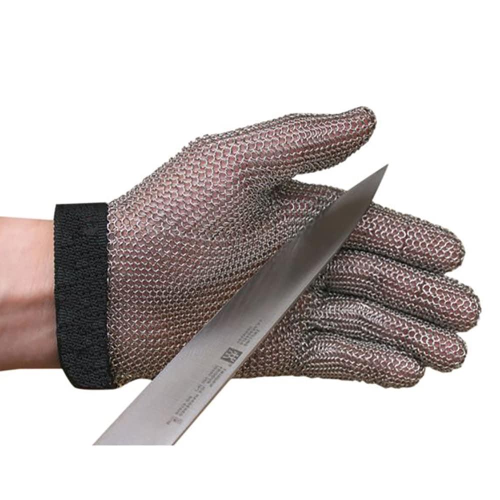 San Jamar MGA515L Chainex Cut Resistant Glove, 5 Finger, SS Mesh, Ambidextrous, Large