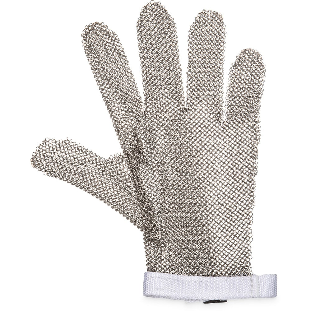 San Jamar MGA515S Chainex Cut Resistant Glove, 5 Finger, SS Mesh, Ambidextrous, Small