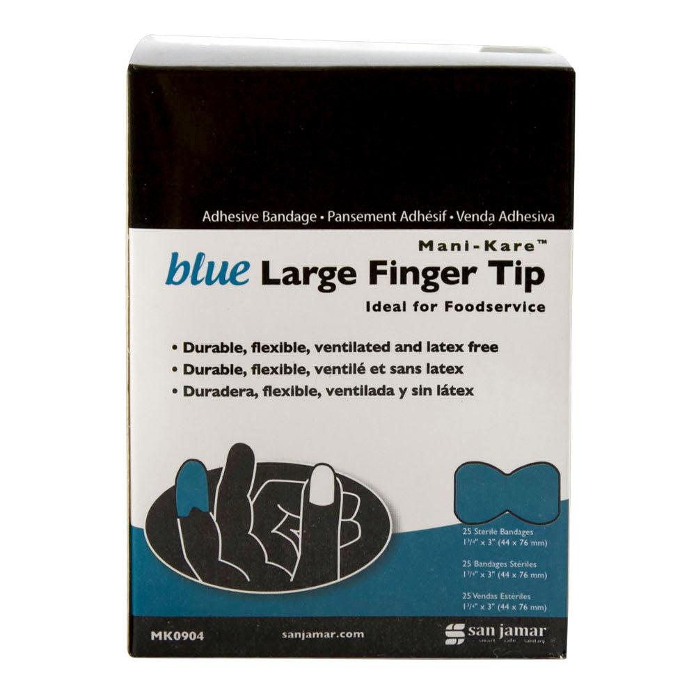 """San Jamar MK0904 Mani-Kare Kolor-Cut Fabric Bandage, 1-3/4"""" X 3""""Large Fingertip"""
