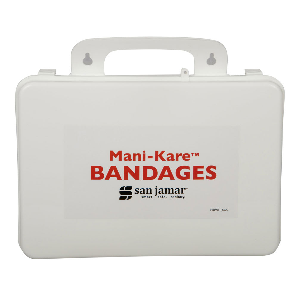 San Jamar MK0909 Bandage Kit with Storage Box, Blue
