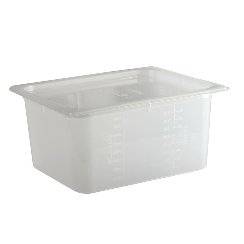 San Jamar MP12RD 1/2 Size ModPan Food Pan w/ Lid - Stackable, Polypropylene, Clear