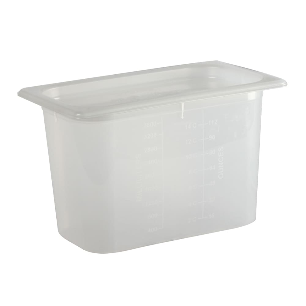 San Jamar MP14 1/4 Size ModPan Food Pan w/ Lid - Stackable, Polypropylene, Clear