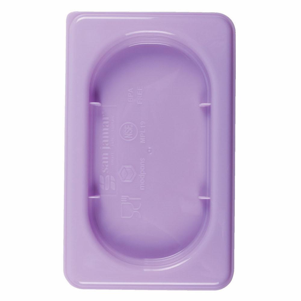 San Jamar MPL13PR 1/3 Size ModPan Food Pan Lid - Polypropylene, Purple