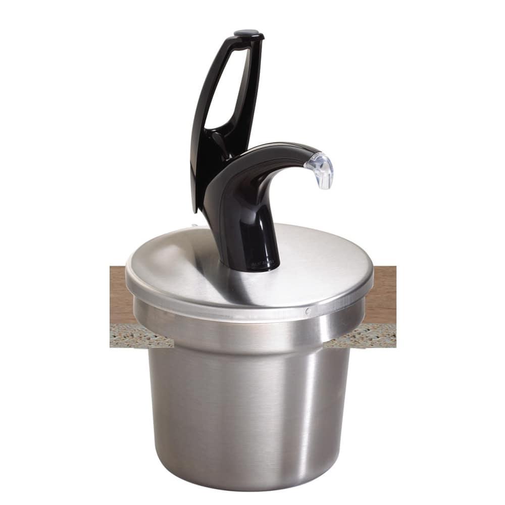 San Jamar P4710BK Pump Style Condiment Dispenser w/ Cover, Black