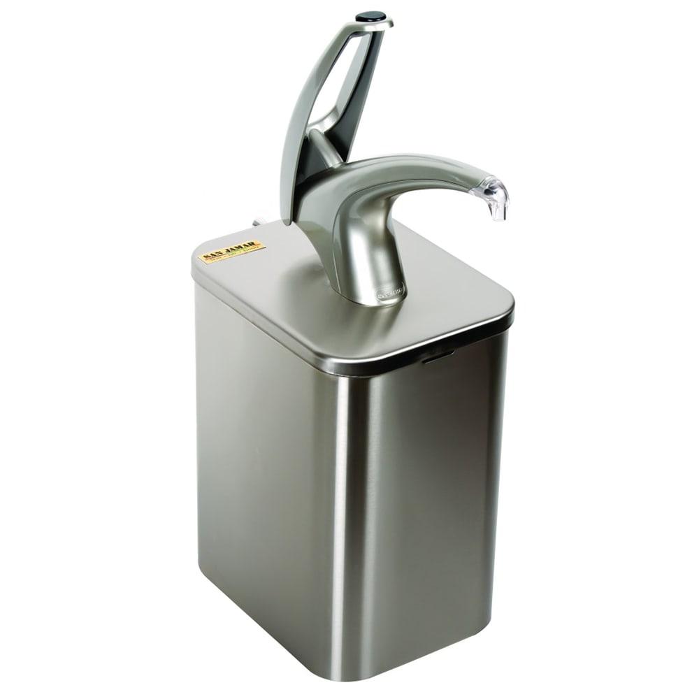 San Jamar P4900 Condiment Dispenser Box System w/ Pump, Liner, Bag Adapter, Plug & Dip Tube, Metal
