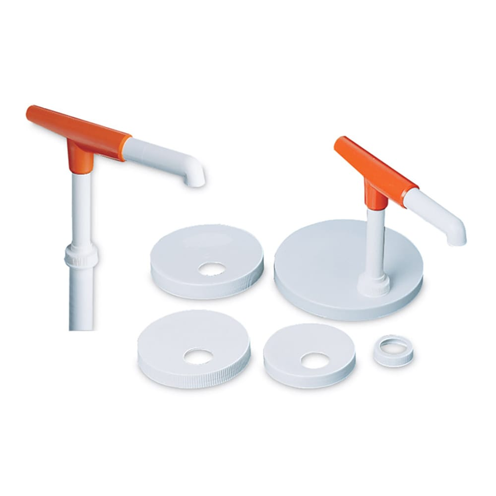 San Jamar P7410 Condiment Pump Kit w/ 1 oz/Stroke Capacity, Plastic, White