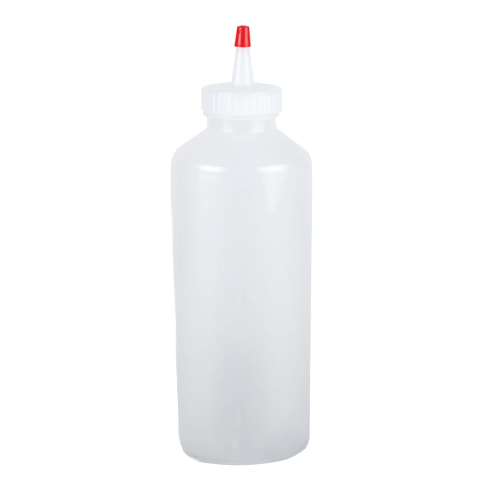 San Jamar P8024 24-oz Professional Squeeze Bottle, Clear, Red Cap
