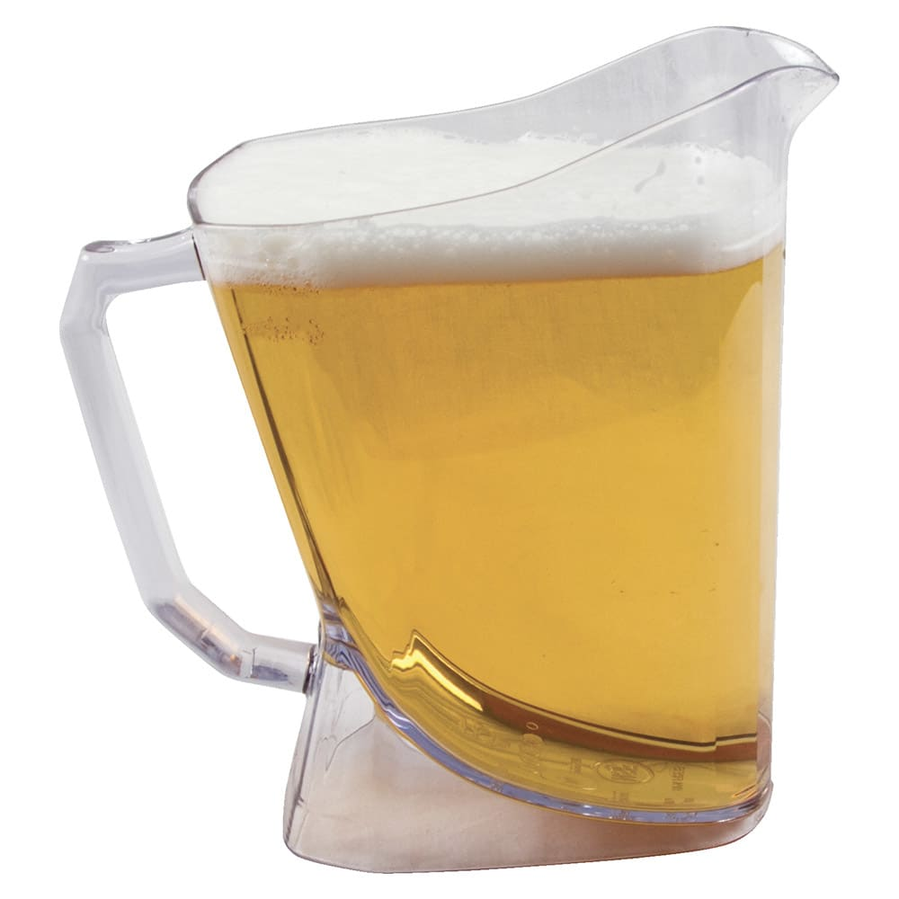 San Jamar PPP60 60-oz Perfect Pour Beer Pitcher - Plastic, Clear
