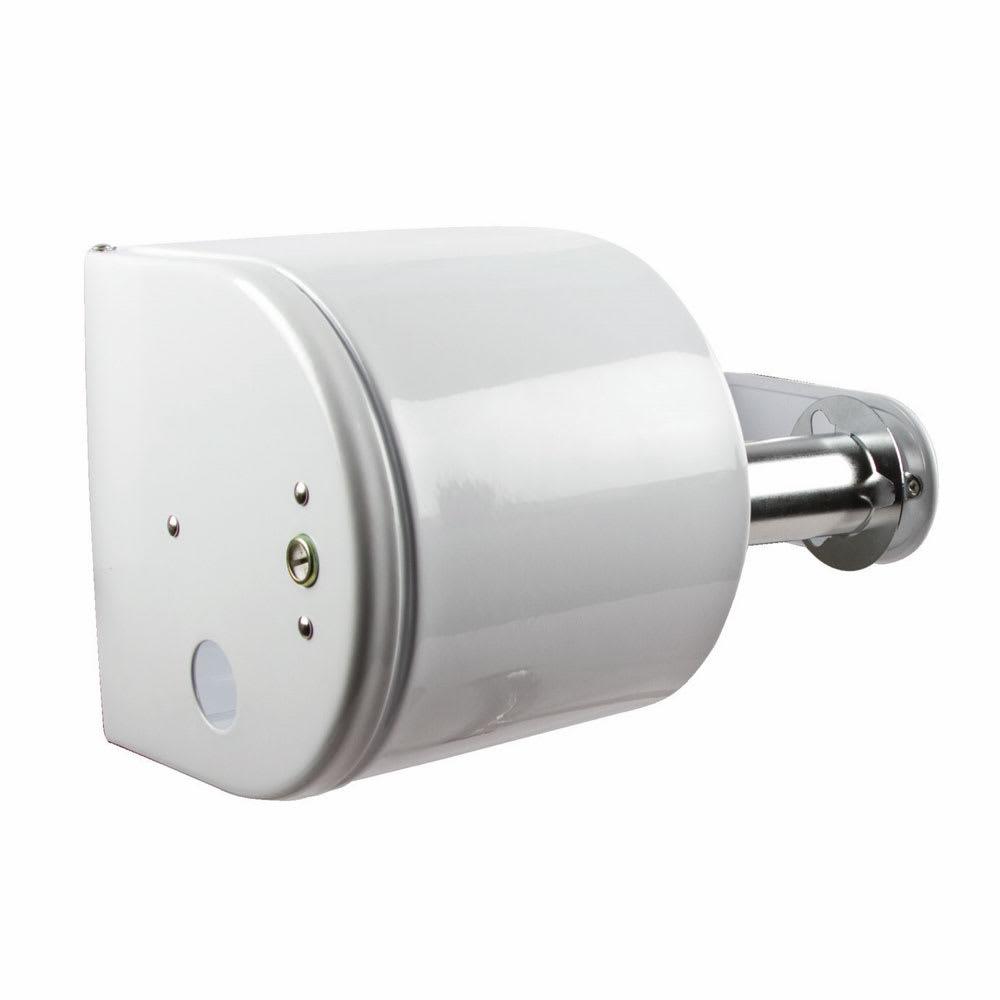 San Jamar R1500WH Tissue Dispenser, 2 Rolls, 1 Covered, Key Lock, White Finish