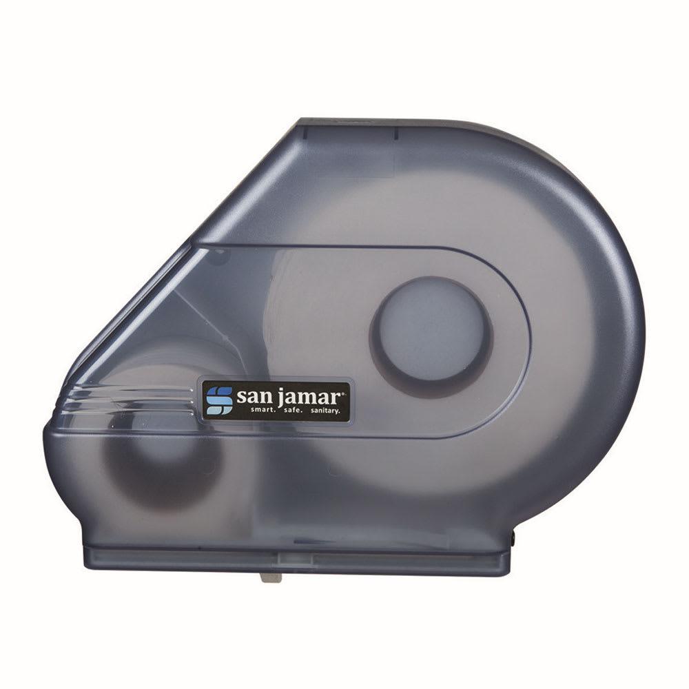 San Jamar R3000TBL Classic Reserva Jumbo Toilet Tissue Dispenser, W/ Stub Roll, Translucent Blue